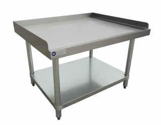 Stainless Steel Tables Stainless Steel Table With Backsplash - 4 foot stainless steel table