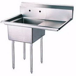 Stainless Steel One Tub Sink 18x18x11