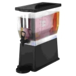 Black Plastic Beverage Dispenser 3 Gallon