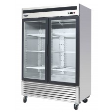 47.1 cu ft. 8 Shelf Freezer Merchandiser with Two Glass Doors
